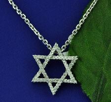 0.33  STAR OF DAVID   DIAMOND  PENDANT WHITE GOLD  14K JEWISH  2.00 GRAMS