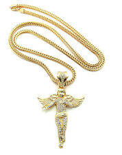 "NEW ICED OUT ANGEL PIECE WITH 36"" FRANCO CHAIN."