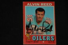 ALVIN REED 1971 TOPPS SIGNED AUTOGRAPHED CARD #169 HOUSTON OILERS