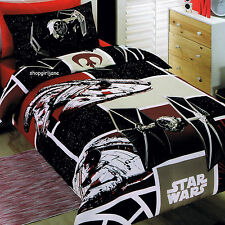 Star Wars - SW7 Patch - Disney Single/US Twin Bed Quilt Doona Duvet Cover set