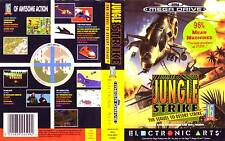JUNGLE STRIKE SEGA MEGADRIVE PAL ESPAÑA COMPLETO MANUAL ESPAÑOL