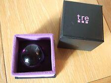 """Impresionante Anillo de cristal de diseñador """"TRE"""", nuevo, En Caja, Púrpura, Talla P, regalo de Navidad?"""