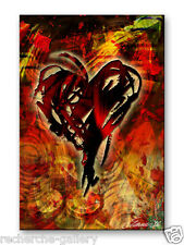 Metal Art Abstract Casino Hearts Wall Sculpture Painting USA Made Home Decor