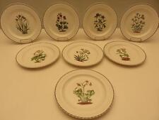 """Set of 8 Copeland SPODE 9"""" Lunch Dinner Botanical Flower PLATES Wicker"""
