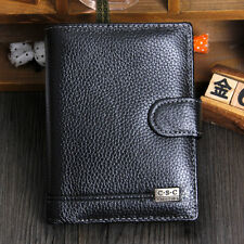 Men Genuine Leather Big Wallet Cowhide Purse Passport Holder Vintage Card Holder