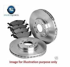 FOR VW POLO ALL MODELS 2009-  NEW REAR BRAKE DISCS SET AND DISC PADS KIT