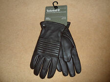 NEW TIMBERLAND GLOVES SHELBURNE BAY TOUCH SCREEN J1116 BROWN LEATHER MEN'S LARGE