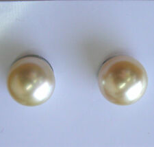 10.4mm!! AUST SOUTH SEA GOLD PEARLS PAIR 100% UNTREATED UNDRILLED+CERT AVAILABLE
