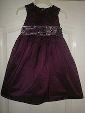 Next Signature Party Dress~12-18mth~ Deep Purple Shot Silk/Velvet Belt~Christmas