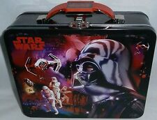 """STAR WARS Lunch/Carry All  Box The Tin Box Co 7.50""""W X 6""""Tx 2.75""""D"""