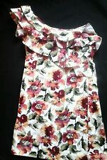 PINK BOUTIQUE ONE SHOULDER FLORAL RUFFLED MINI DRESS  UK 10