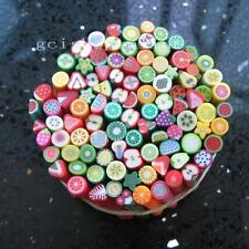 Lot of 100 Nail Art Cane Clay Fruit Slice DIY Mixed Fimo Polymer F6
