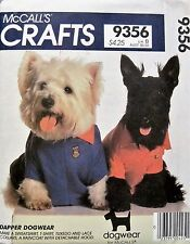 DOG CLOTHES/ACC'S. PATTERN~RAINCOAT, SHIRT, COLLAR McCall's 9356~XS-S-M~UNCUT/FF