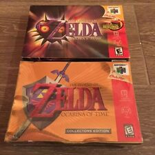 Zelda Ocarina of Time Collector's Edition & Majora's Mask New Factory Sealed N64