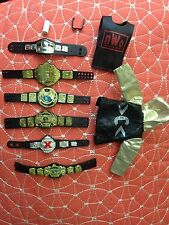 WWE Elite TNA Championship Belts, NWO Red and Black, Accessory Lot