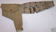WWII British Tan Canvas 38 Webley Holster snap closure with Belt set E8499