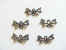 10 Metal Antique Copper Colour Bow/Bowknot Jewellery Connectors - 20mm