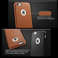 Apple iPhone 7 Case Silicone Leather Tech 2017 Protective Cover Brown