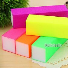 1Pc Fluorescent Color Nail Art Buffer Sanding Block File Tool Tips(Random Color)