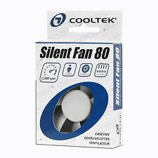 COOLTEK 80x80x25mm Silent Fan geräuscharme Gehäuselüfter besonders laufruhig