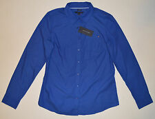 NWT Womens TOMMY HILFIGER Casual Shirt, Large, L, Blue, Long Sleeve, Button Down