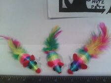 Mice Cat Toy - Sisal, Rattle feather tail  wholesale lot of 1000