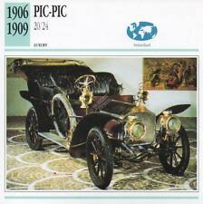 1906-1909 PIC-PIC 20/24 Classic Car Photograph / Information Maxi Card