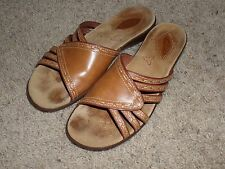 Clarks Tan Leather Slide Sandal 7M Used Condition