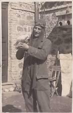 X194) AVIAZIONE 1931, FOTOGRAFIA DI UN PILOTA CON TUTA, CUFFIA E OCCHIALI.