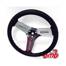"10"" Universal Go Kart Steering Wheel Chrome Center 3 Bolt Mount For Manco"