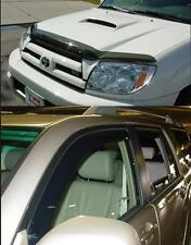 Toyota 4Runner 2003-2005 Bug Deflector Shield & In-Channel Wind Deflector Combo