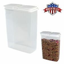 Large 4 Qt Cereal, Snack Keeper Food Storage Dispenser Container, Flip Top Lid