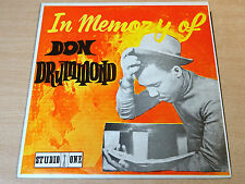 EX-/EX !! Don Drummond/In Memory Of/1969 Studio One LP/Rare Reggae