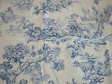 "BLUE TOILE ~ 37"" SWAG VALANCE Lined ~ ROD POCKET by COUNTRY CURTAINS ~ Beautiful"