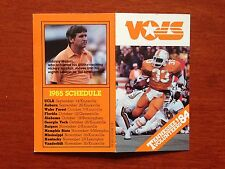 CFB 1984 TENNESSEE VOLUNTEERS VOLS Football Schedule FB College