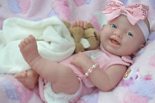 PJs ☆ BERENGUER LA NEWBORN☆ MANY EXTRAS ☆ BUNNY BABY GIRL DOLL FOR REBORN /PLAY