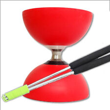 Cyclone Triple Bearing Diabolo & Metal Sticks - Diablo Sticks & String - Red