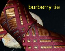 silk tie made in UK B-red gold strips