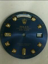 Rolex men's day-date chemical blue 8+2 diamond dial 2-T