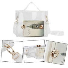 Fashion PVC Transparent Waterproof Jelly Buckle Chain Shoulder Messenger Bag LO