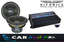 "Hifonics di alta qualità BASS pacchetto singolo 12"" SUBWOOFER AMPLIFICATORE CAR AUDIO AFFARE"