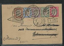 TRANSVAAL (P2408B) KE 5 STAMP BOER WAR CENSOR COVER TO HOLLAND