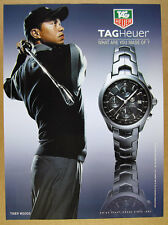 2004 Tiger Woods photo TAG Heuer Link Automatic Chronograph watch print Ad