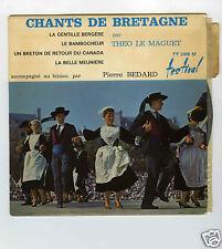 45 RPM EP THEO LE MAGUET CHANTS DE BRETAGNE