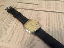 OMEGA VINTAGE 1980's SEAMASTER QUARTZ MENS WITH DATE LEATHER STRAP - VERY SMART