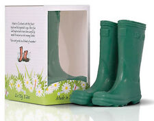 SCOTTISH FINE SOAPS Green Wellington Boot Gift Box Set for Gardener New