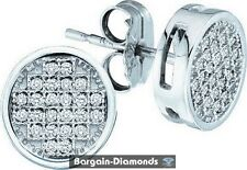 diamond round studs screwback earrings .10 carats men ladies teen ice out 925