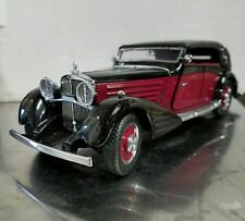 1/24 Franklin Mint Burgundy Black 1939 Maybach Zeppelin B11A119 #1462 PEBBLE Bch