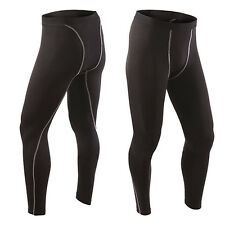 Mens Compression Baselayer Long Pants Tights Stretch Sports Gym Trousers Bottom