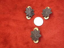 #13 of 19, NICE LOT OF 3 WWII? US ARMY/MILITARY PINS, ALL ARE MATTE BLACK LEAVES